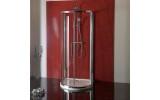 LUCIS LINE polkruhová sprchová zástena 1000x1000mm, číre sklo