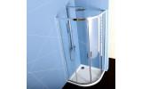 EASY LINE štvrťkruhová sprchová zástena 800x800mm, číre sklo