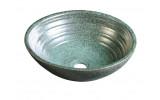 ATTILA keramické umývadlo, priemer 42,5 cm, zelená meď