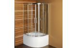 SELMA štvrťkruhová sprchová zástena 900x900x1500, číre sklo