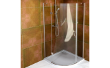 LEGRO štvrťkruhová sprchová zástena jednokrídlové 900x900mm, číre sklo