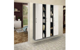 Zostava doplnkových skriniek ESPACE, vysoké, biela / borovica rustik