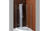LEGRO štvrťkruhová sprchová zástena dvojkrídlové 900x900mm, číre sklo